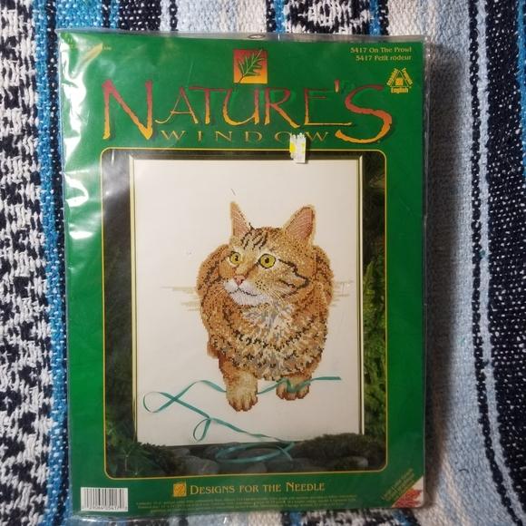 Vintage Other - Cross stitch kit orange cat
